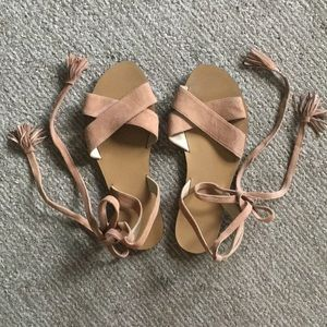J. Crew tie sandals